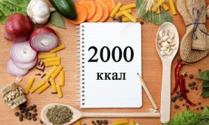Диета 2000 калорий – меню