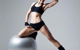 Упражнения для мышц брюшного пресса с фитболом