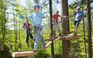 Веревочный парк – легкая тренировка для всей семьи